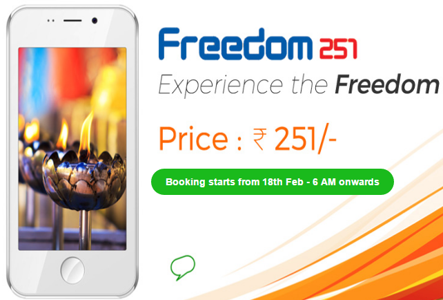 freedom 251 website screenshot