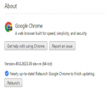 "How to fix chrome update loop ""Nearly up-to-date! Relaunch Google Chrome to finish updating. Relaunch"""