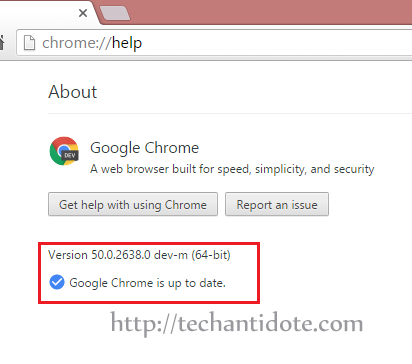 chrome update error fixed