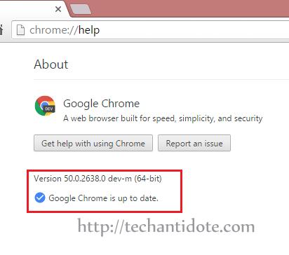 chrome update error fixed