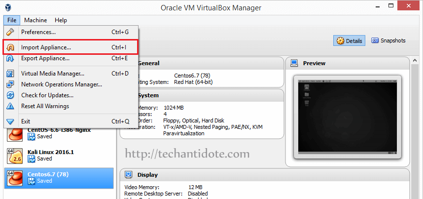 import ovi file into virtualbox