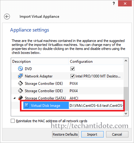 change virtual machine's hard disk location if needed