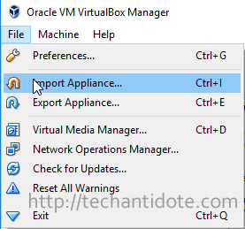 click file import appliance