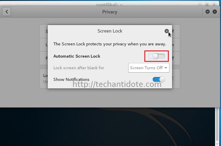 disable auto screen lock