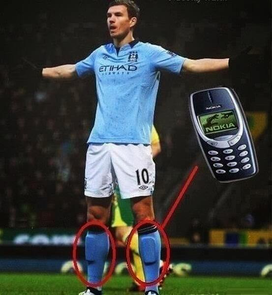 footballer gets new protection - nokia 3310