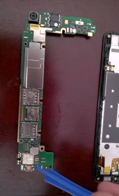 removing honor 4c motherboard 2