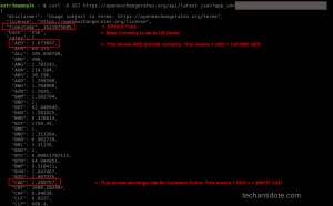 getting currency exchange rates in Linux terminal