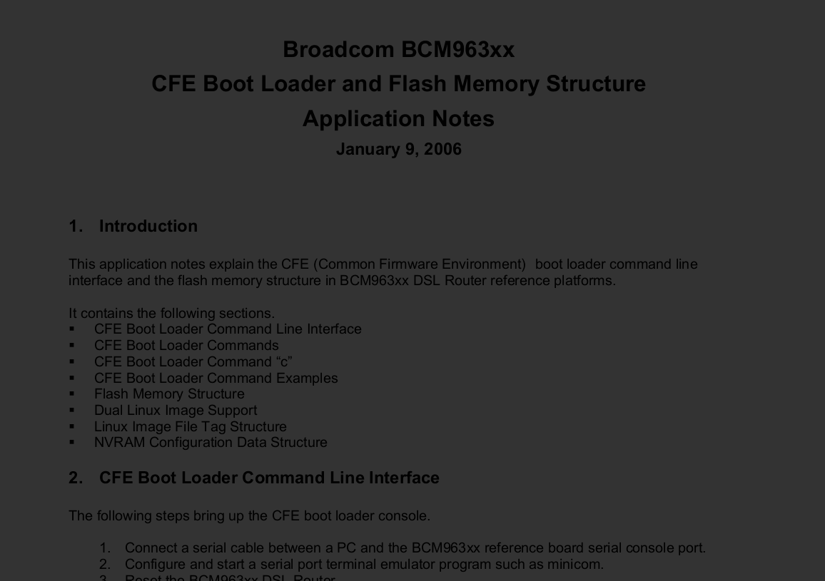 broadcom CFE PDF document