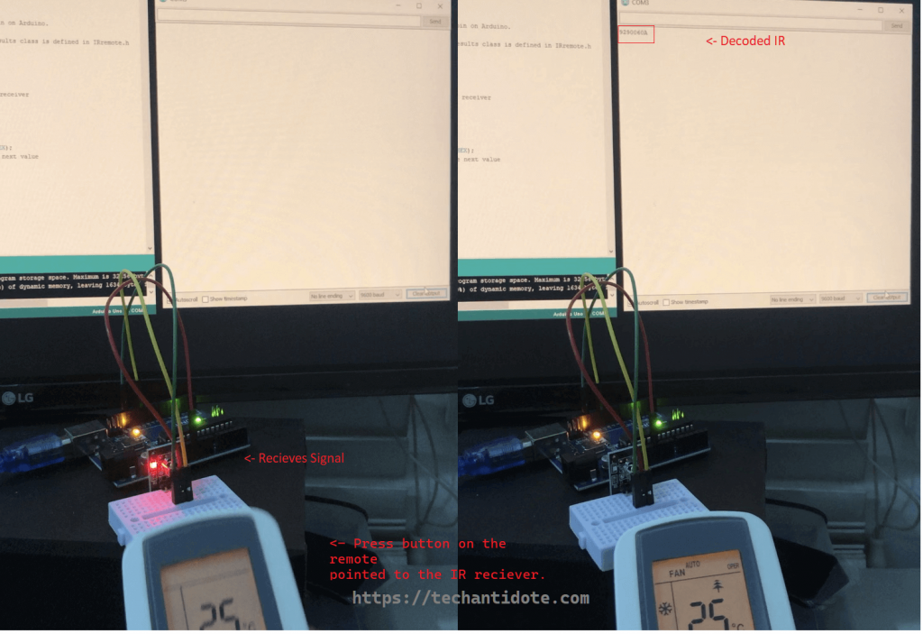 sending and decoding IR picture using KY-022